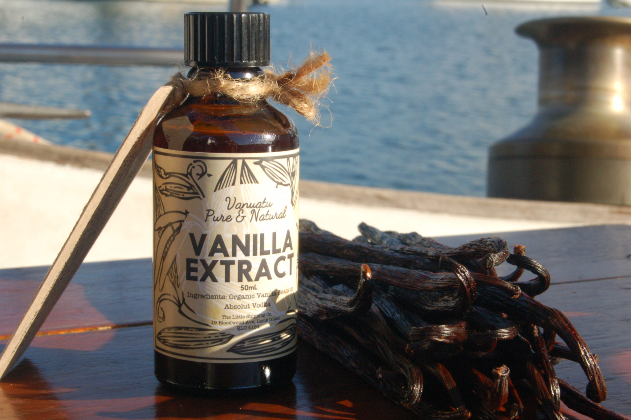 Vanilla Beans sailed by sailboat from the remote Vanuatu islands