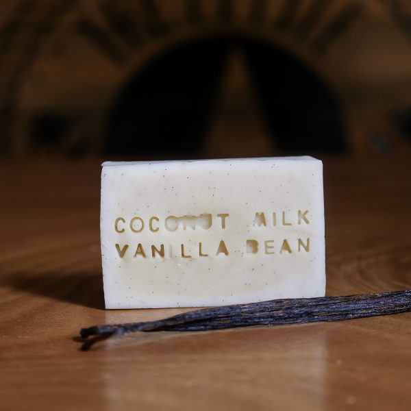 Soap with real vanilla bean seeds