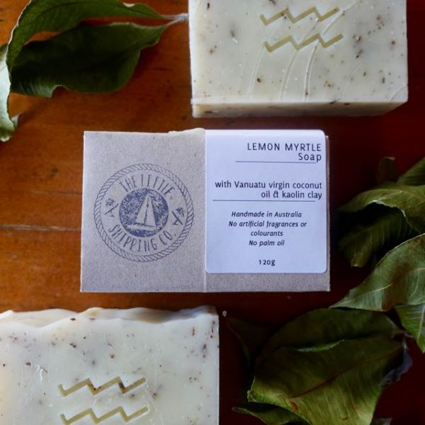 australian lemon myrtle soap, vegan, handmade and palm-oil free