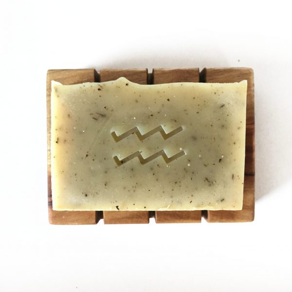 lemon myrtle soap and wooden dish