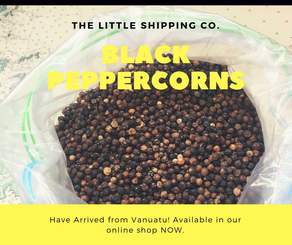 Black Peppercorns Vanuatu organic sail transport ethical fair trade