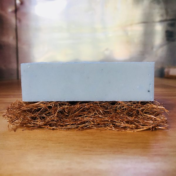 Coconut fibre or coco-fibre soap rest, helps your handmade soap to last longer by draining water away and staying dry between uses