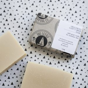The Little Shipping Co.'s Unscented Goat's Milk Soap Bar for Sensitive Skin