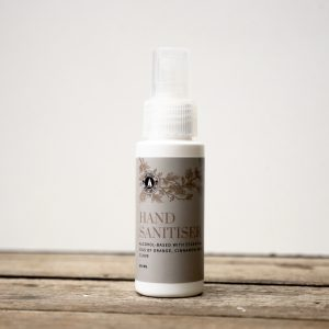 Hand Sanitiser 50ml 70% alcohol and essential oils