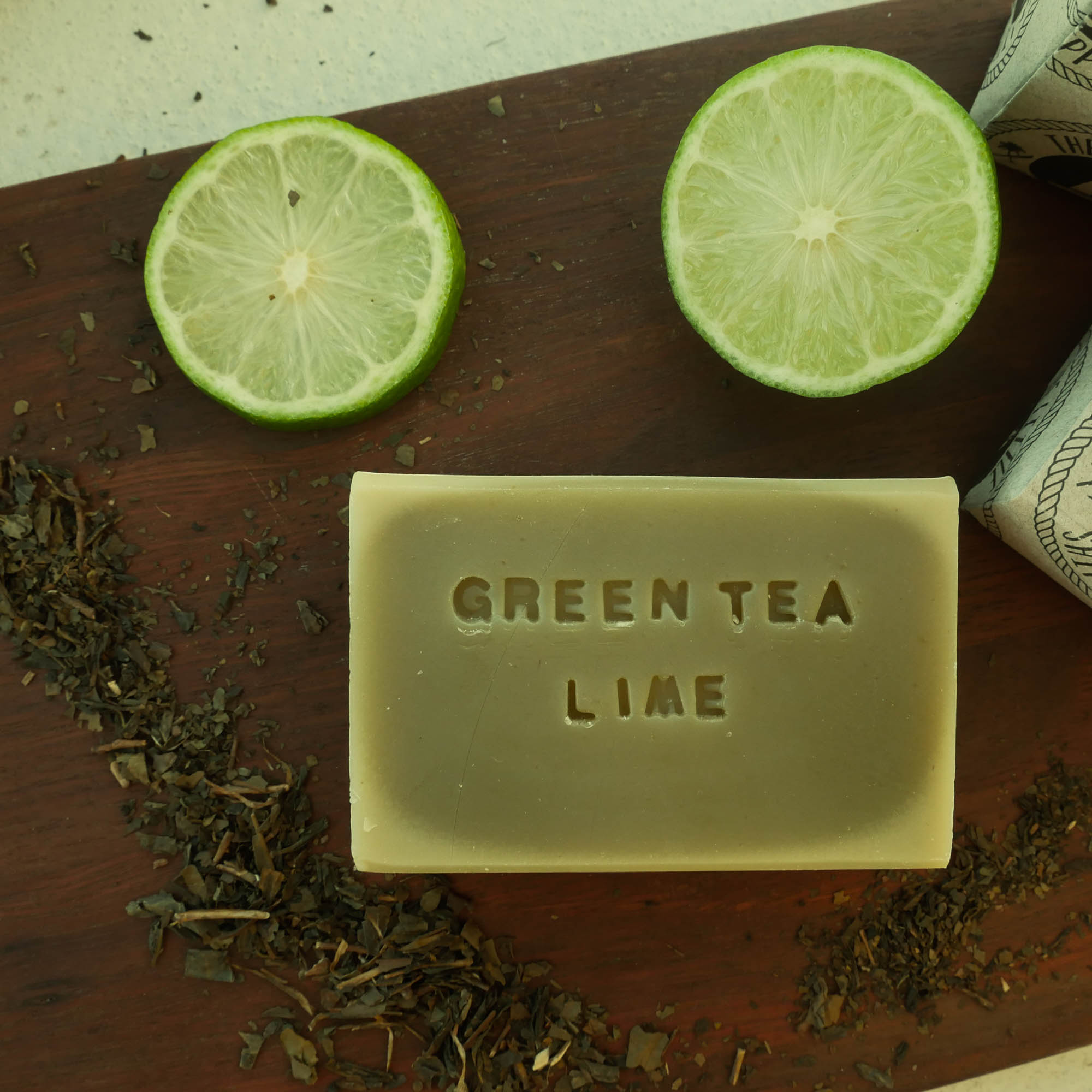 green tea and lime soap